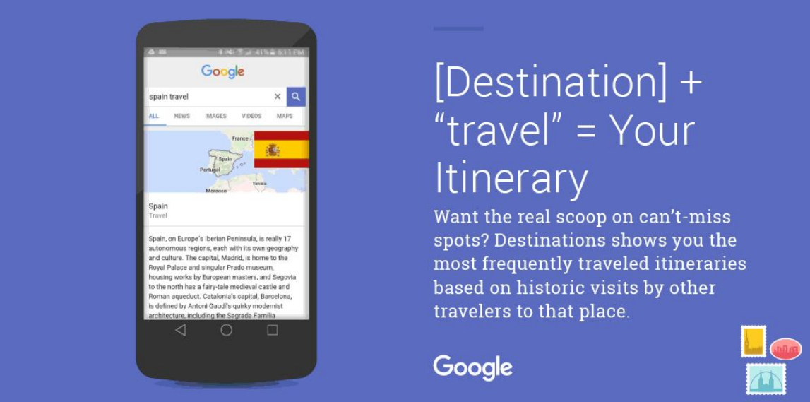 google destinos